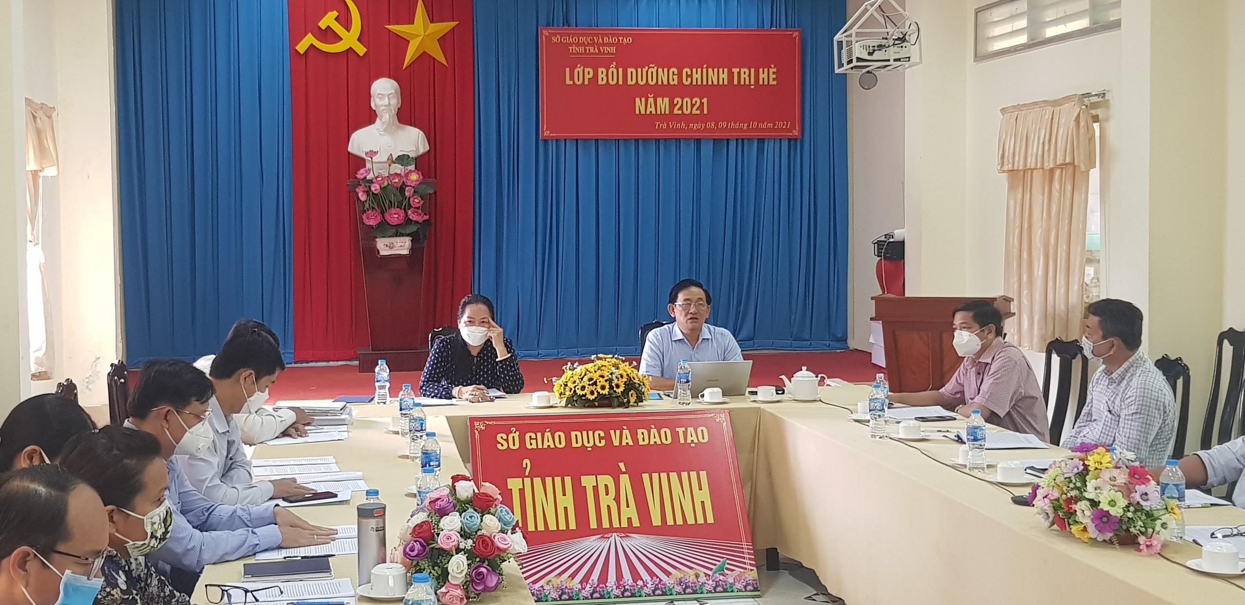 Sở Giáo dục và Đào tạo Trà Vinh tổ chức học tập chính trị hè năm 2021