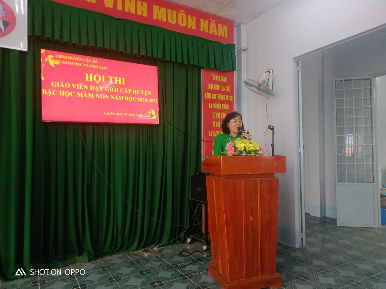 Phòng GDĐT Cầu Kè tổ chức Hội thi giáo viên dạy giỏi cấp huyện đối với Giáo dục mầm non, Năm học 2020- 2021