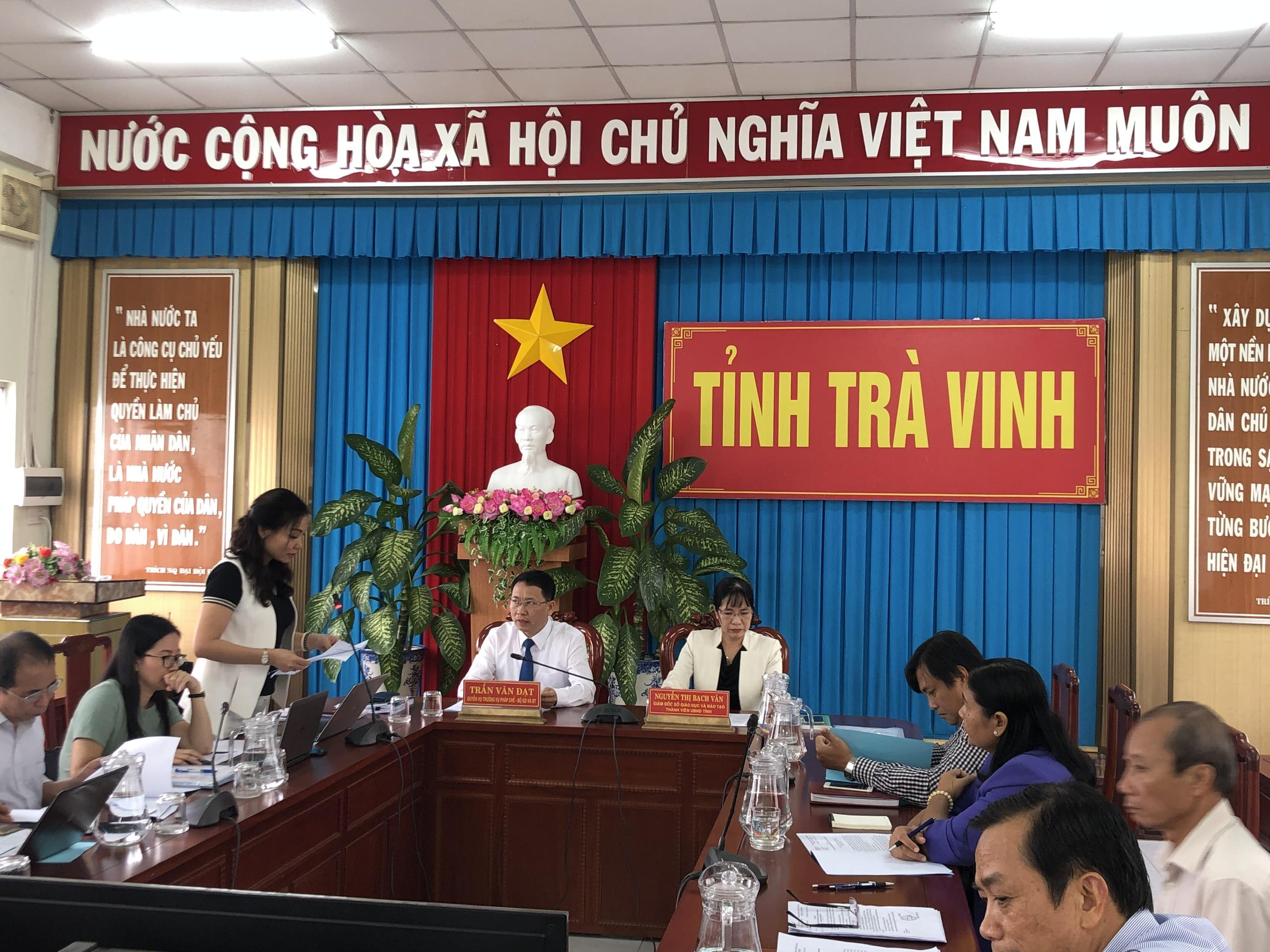 Bộ Giáo dục và Đào tạo kiểm tra công tác pháp chế Sở Giáo dục và Đào tạo tỉnh Trà Vinh